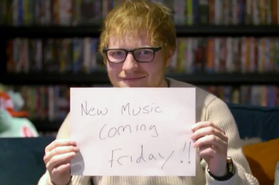 Ed Sheeran ‏@edsheeran Hello 2017... (screen grab) CR: Ed Sheeran/Twitter